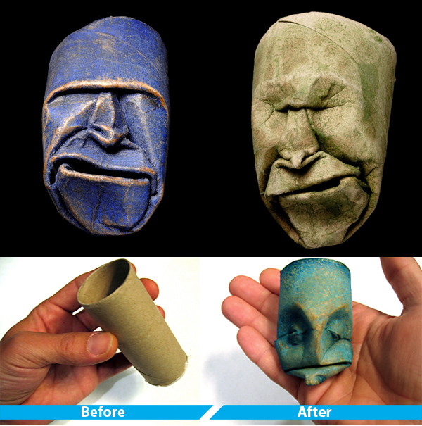 sculptures 21 Cool Toilet Paper Roll Creations