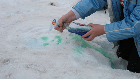 snow-paint Outdoor Winter Fun On The Cheap